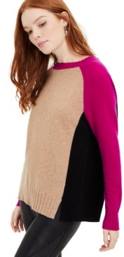 Charter Club Rubina Cashmere Colorblock Sweater, Created for Macy's