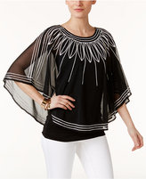 Alfani Embroidered Poncho, Only at Macy's