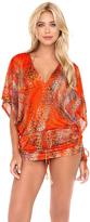 Luli Fama Wanderlust Cabana V-Neck Dress in Multicolor (L452976)