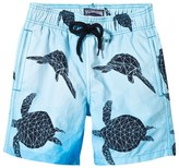 Vilebrequin Blue and Navy Turtle Print Trunks