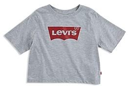 Levi's Girls' Logo Print Cotton Crop Top - Big Kid