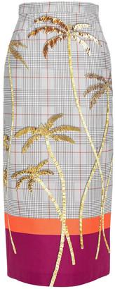 Stella Jean Printed Stretch-cotton Midi Skirt
