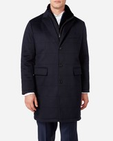 N.Peal Quilted Woven Cashmere Jacket
