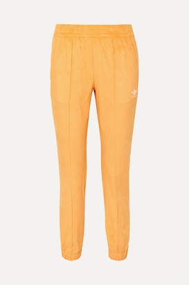 adidas Striped Faux Suede Track Pants - Yellow