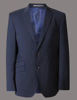 Autograph Navy Tailored Wool Rich Jacket With Lycra