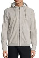 Saks Fifth Avenue Collection Suede Perforated Hoodie