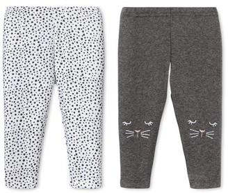 Lamaze Baby Girls Organic Cotton Pants, 2-Pack
