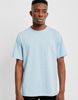 Farah Denny Marl Crew Neck Short Sleeve T-Shirt Light Blue