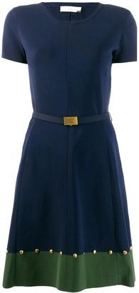 Tory Burch Belted Skater Dress