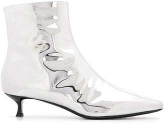 MSGM Metallic Ankle Boots