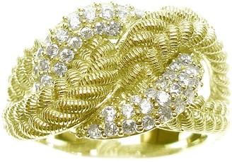 Judith Ripka Sterling & 14K Clad Diamonique Twist Ring