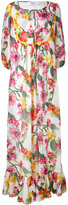 Blugirl floral maxi dress - women - Cotton/Polyester - 42