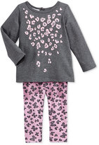 First Impressions Baby Girls' 2-Pc. Long-Sleeve Animal-Print Top & Leggings Set, Only at Macy's