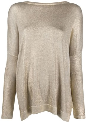 Avant Toi Dropped Shoulder Knitted Top