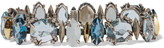 Alexis Bittar Sterling silver, quartz, topaz and diamond bracelet