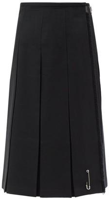 Le Kilt Charlotte Wool-gabardine Kilt - Black