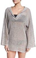 Flora Bella Sandbar Crocheted Hooded Coverup, Gray