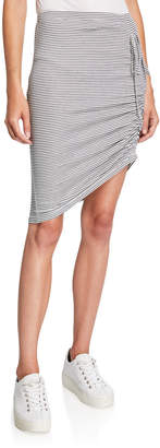 Splendid Alto Striped Skirt with Side Ruching