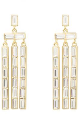 Gorjana CZ Baguette Chandelier Earrings