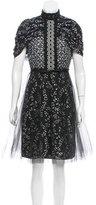 Giambattista Valli Short Sleeve Knit Knee-Length Dress w/ Tags
