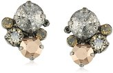 "Sorrelli Gold Vermeil"" Crystal Assorted Rounds Post Earrings"