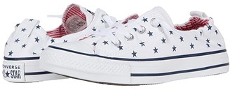 Converse Chuck Taylor All Star Shoreline Americana - Slip (White/Obsidian/University Red) Women's Shoes