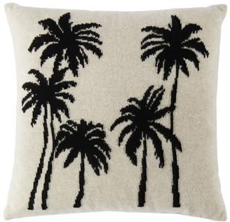 The Elder Statesman Beige Palms Pillow