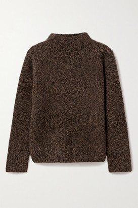 The Row Cera Melange Cashmere And Silk-blend Sweater - Brown