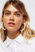 Free People Freida Feather Wrapped Hoops