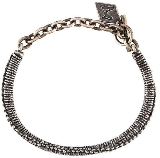 M. Cohen braided metallic bracelet