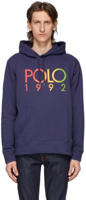 Polo Ralph Lauren Navy Fleece Logo Hoodie