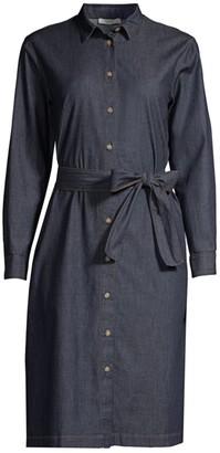 Peserico Belted Denim Shirtdress