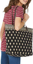 Fat Face Tia Woven Shopper Bag, Black