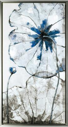"Artmaison Canada 16.5""x32.5"" White & Blue Blossom Framed Wall Art"