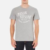 MAISON KITSUNÉ Men's Palais Royal TShirt - Grey Melange