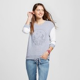 Well Worn Women's Way Out West Super Soft Drawstring Pullover Heather Gray - Well Worn (Juniors')