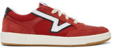 Vans Red and White Serio Collection Lowland Cc Sneakers