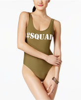 California Waves #Squad High-Cut One-Piece Swimsuit