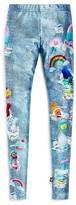 Terez Girls' Denim & Trolls Print Leggings - Sizes 7-16