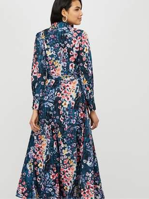 Monsoon Fawn Animal Print Shirt Dress - Blue