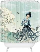 Deny Designs Sea Fairy Shower Curtain