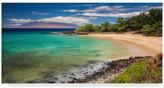 """Trademark Fine Art Pierre Leclerc 'Little Beach Maui' Canvas Art, 47""""x24"""""""