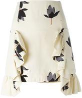 Marni Dawntreader print ruffled skirt