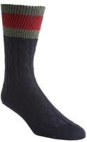 Gucci Men's Stripe Cable Knit Sock