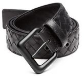 Bottega Veneta Intrecciato Woven Leather Belt