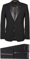 Dolce & Gabbana - Black Slim-fit Silk-trimmed Virgin Wool Tuxedo