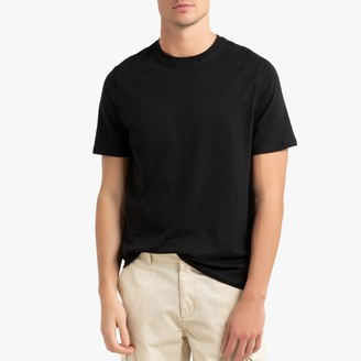 La Redoute Collections Cotton Round Neck T-Shirt with Short Sleeves