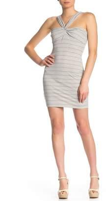 NSR Cami Twisted Halter Knit Dress