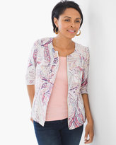 Chico's Multi-Print Linen Jacket
