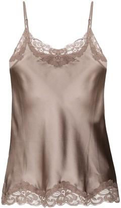 Gold Hawk Silk Lace Trim Camisole